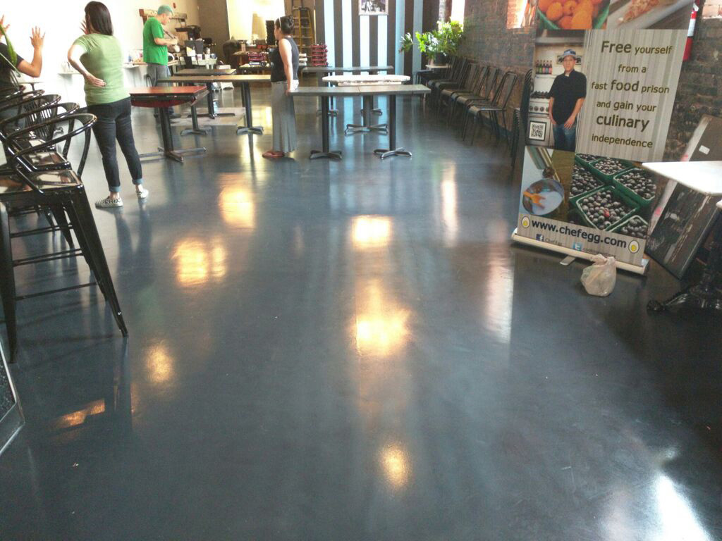 Custom Floor In Grey Created For Trade Show