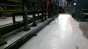 non-slip epoxy flooring installation for steel warehouse