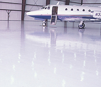 We installed new epoxy flooring at airport hangar