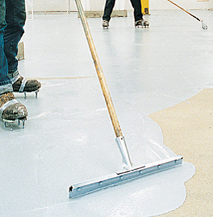 professional epoxy equipment used by contractors for application of epoxy coatings