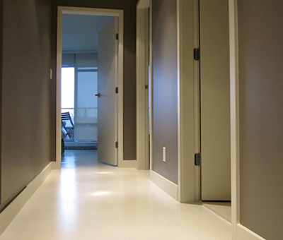 property owner selected epoxy for hallways and bedrooms