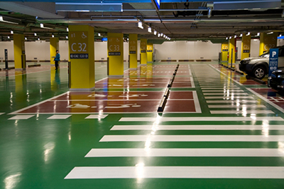 industrial epoxy flooring for parking garage