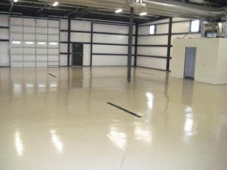 We completed the garage epoxy floor paint system for Nashville client's garage & warehosue