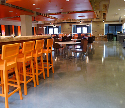 Restaurant chooses epoxy flooring for their dining area
