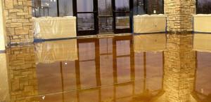 Nashville epoxy flooring professionals created this metallic epoxy floor for retail store.