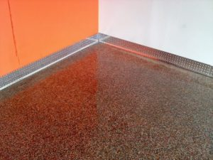 industrial epoxy coatings for non-slip and moisture resistant surfaces